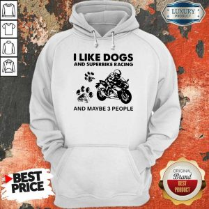 Amused Like Dogs And Superbike Racing 3 People Hoodie