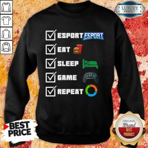 Angry Esport Eat Sleep Game Repeat 6 Sweatshirt