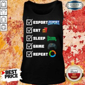 Angry Esport Eat Sleep Game Repeat 6 Tank top