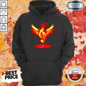 Anxious 5 Music Note Fire Angel Hoodie