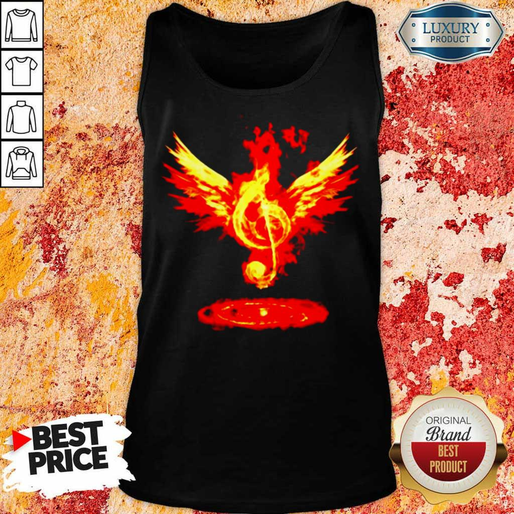 Anxious 5 Music Note Fire Angel Tank Top