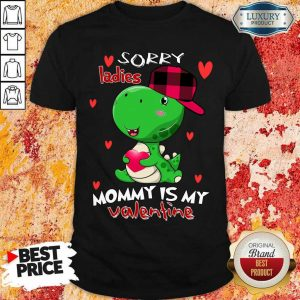 Kids Valentines Day Boys Mommy Is My Valentine Dino T Rex Shirt