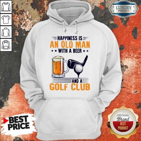 Hurt Is An Old Man With A Beer And A Golf Club 6 Hoodie