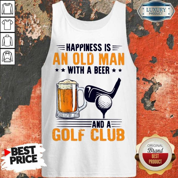 Hurt Is An Old Man With A Beer And A Golf Club 6 Tank Top