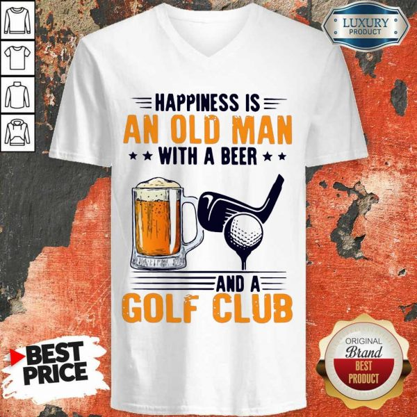 Hurt Is An Old Man With A Beer And A Golf Club 6 V-neck