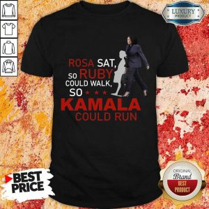 Kamala Harris Rosa Sat Ruby Walk First Female Vice President Shirt