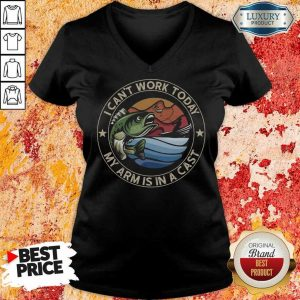 96 Delighted A Cast Fishing V-Neck