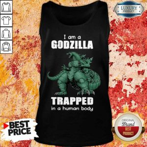 A Godzilla Trapped In A Human Body Tank Top