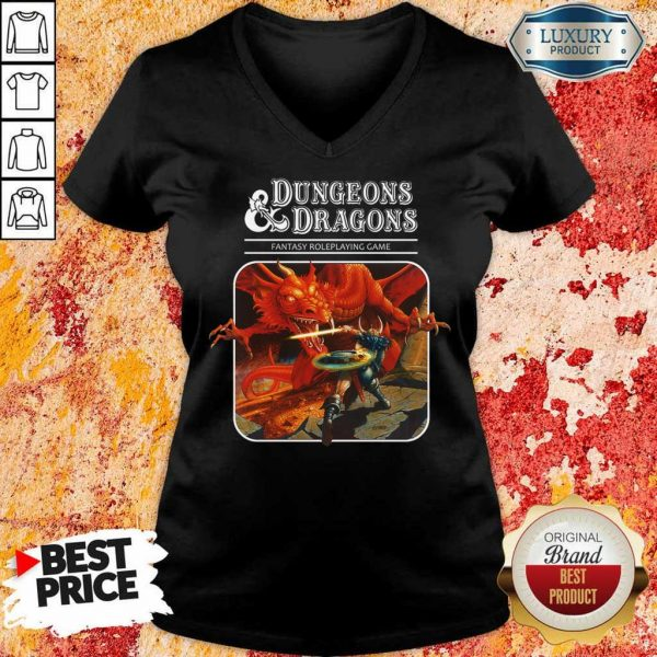 Just 5 Roleplaying Game Dungeons And Dragons V-Neck