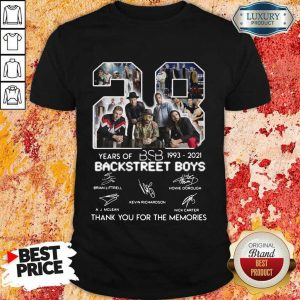 Nice 1993 Backstreet Boys Signatures Thanks Shirt
