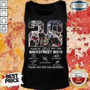Nice 1993 Backstreet Boys Signatures Thanks Tank Top