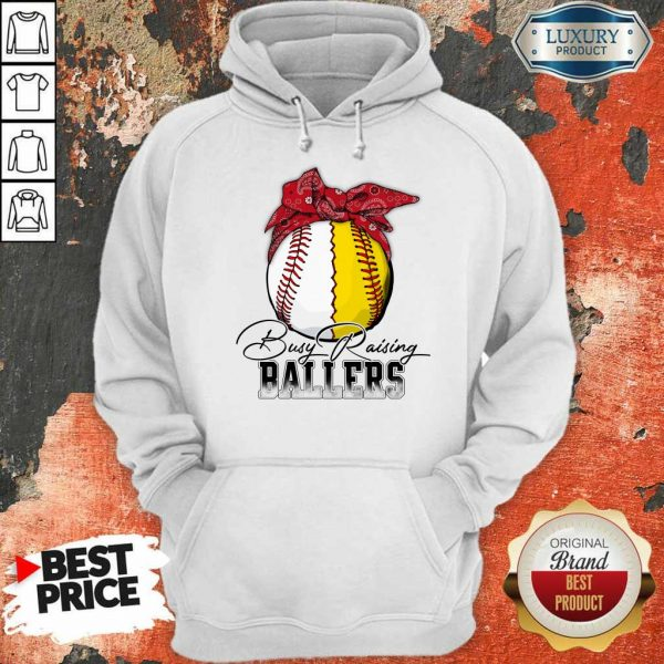 Perfect Just A Mom Busy Raising Ballers 147 Hoodie