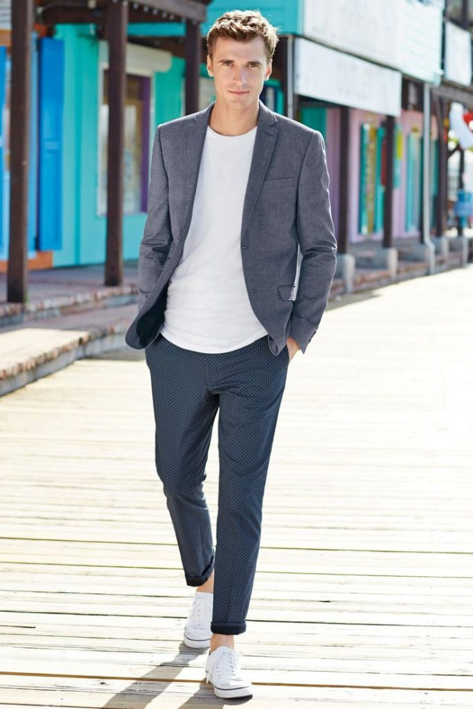 Suit With Stylish Sport Shoes For Men