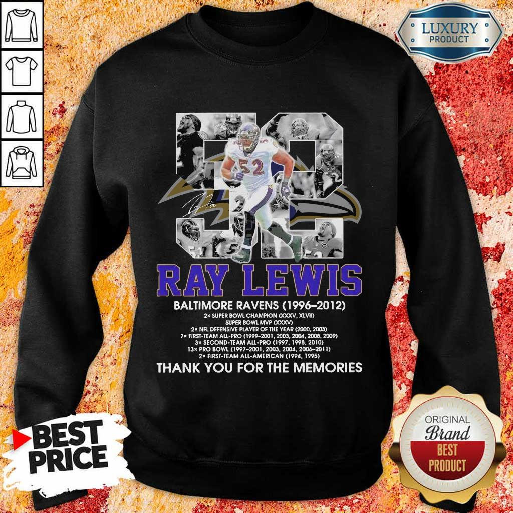 Ray Lewis Baltimore Ravens Signature Sweatshirt