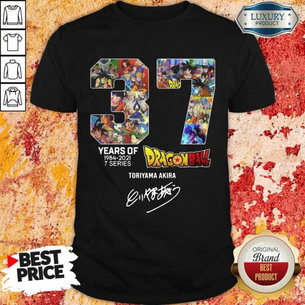 Series Dragon Ball Toriyama Akira Signature Shirt