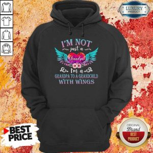 Top I Am Not Just A Grandpa With Wings Hoodie
