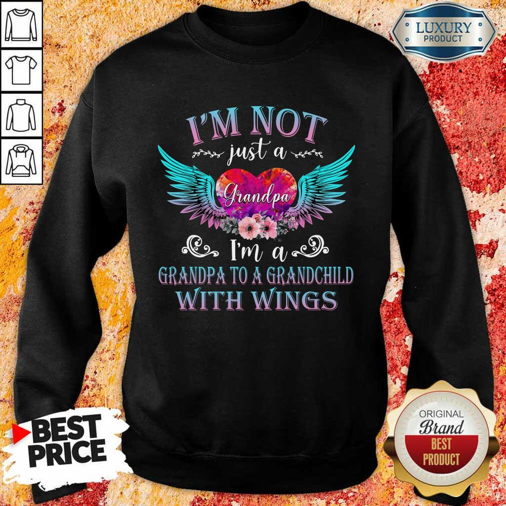 Top I Am Not Just A Grandpa With Wings Sweatshirt