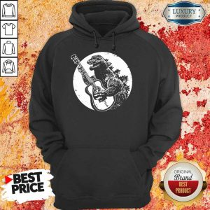 Awesome Godzilla Plays Guitar Hoodie