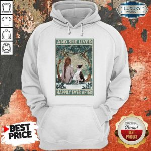 Good Dog Snow Girl And She Lived Happily Ever After Poster Hoodie