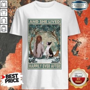 Good Dog Snow Girl And She Lived Happily Ever After Poster Shirt