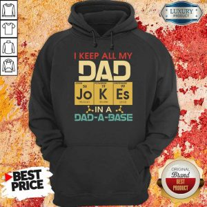Pretty I Keep All My Dad Jokes In A Dad A Base Hoodie