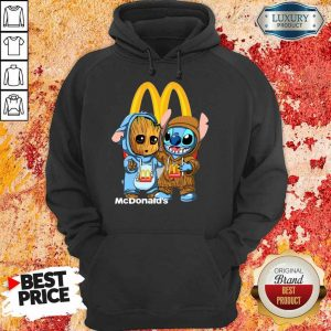 Top Baby Groot And Stitch McDonalds Hoodie