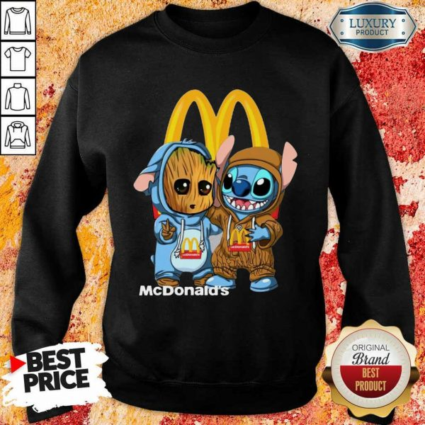 Top Baby Groot And Stitch McDonalds Sweatshirt