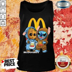 Top Baby Groot And Stitch McDonalds Tank Top