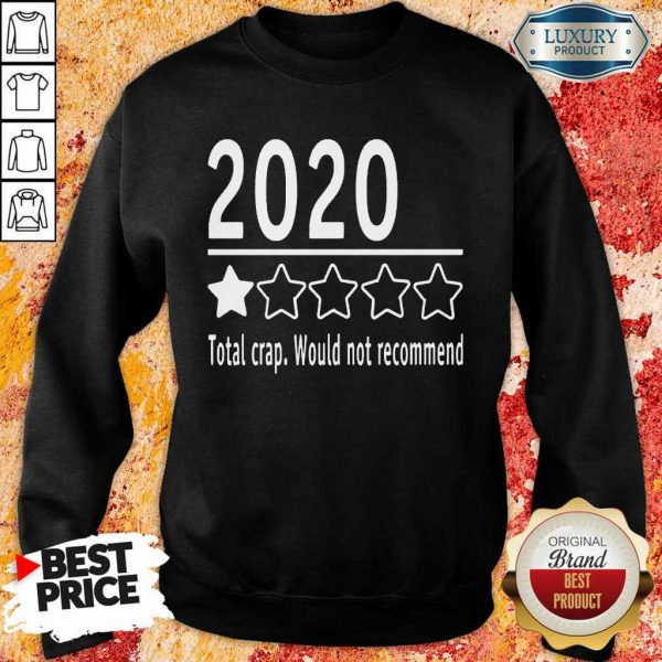2020 Total Crap Would Not Recommend Sweatshirt