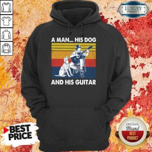 A Man His Dog And His Guitar Vintage Hoodie