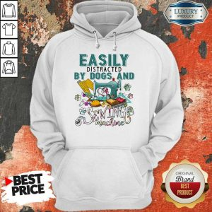 Easily By Dogs And Sewing Machine Hoodie