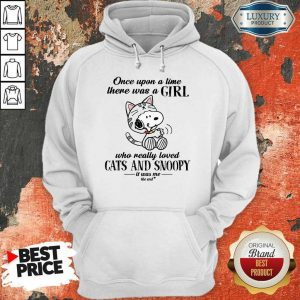 Girl Cats And Snoopy Hoodie