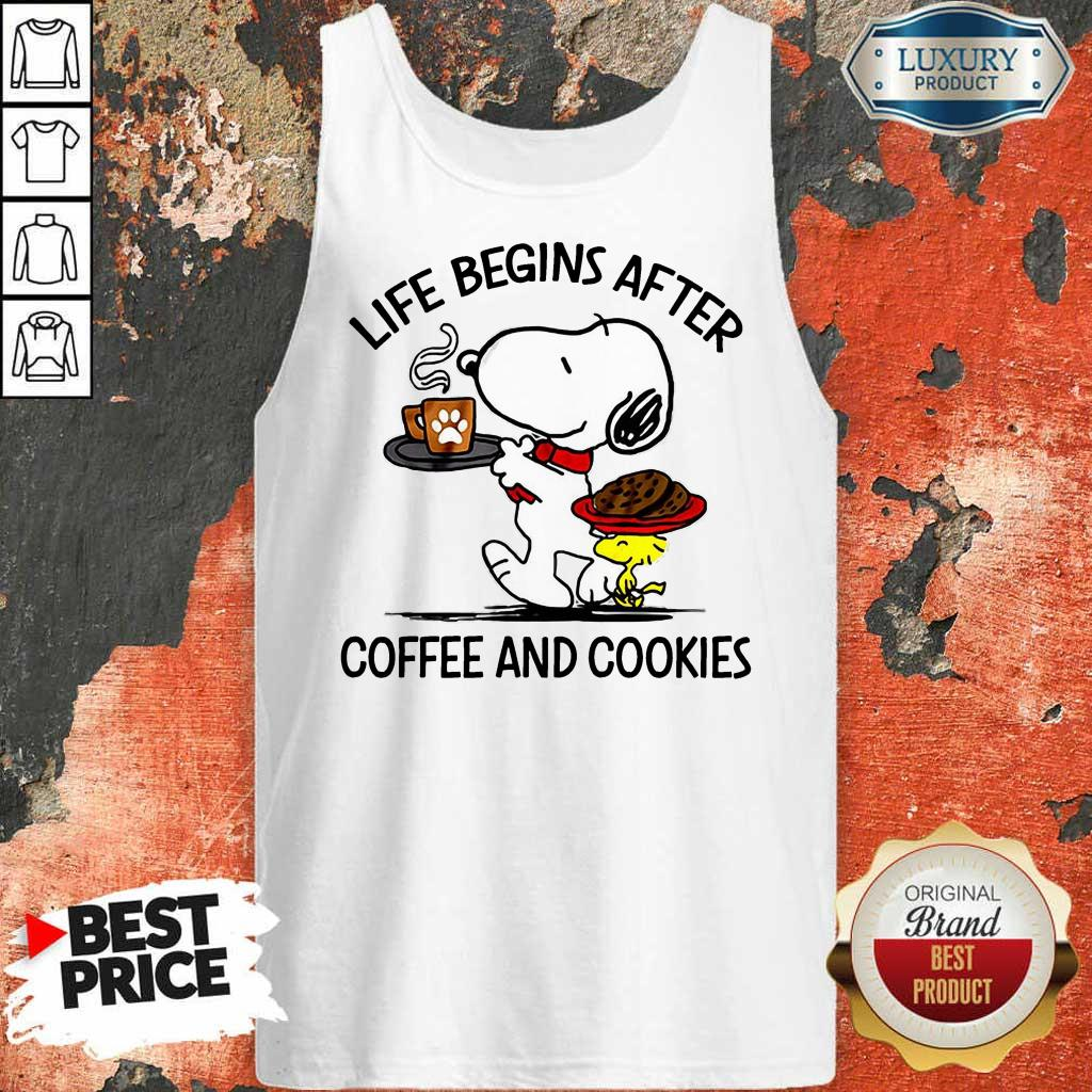Life Begins After Coffee And Cookies Tank Top
