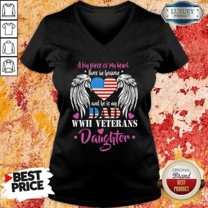 A Big Piece Of My Heart Dad Daughter V-Neck