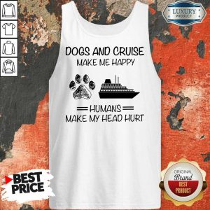 Dogs And Cruise Make Me Happy Tank Top