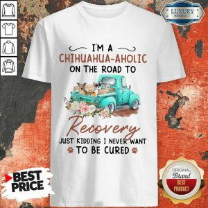 I'm A Chihuahua Aholic On The Road To Recovery Just Kidding I Never Want To Be Cured Shirt
