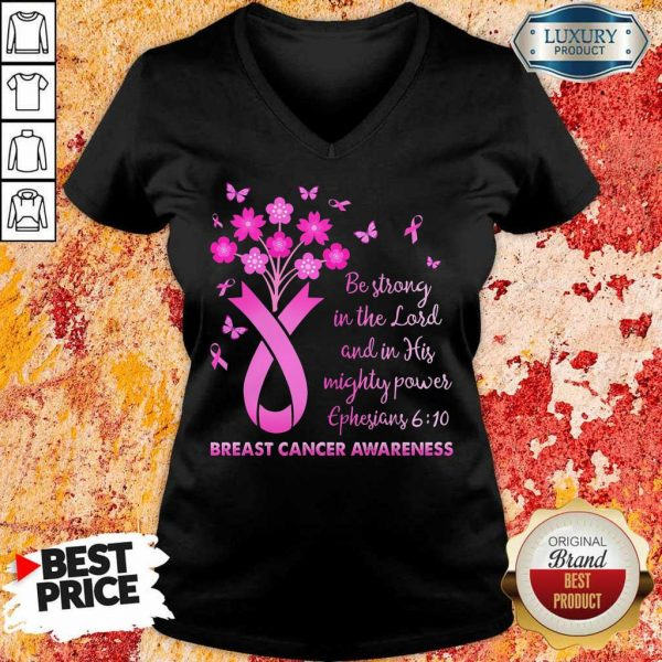 In The Lord Breast Cancer Awareness V-Neck