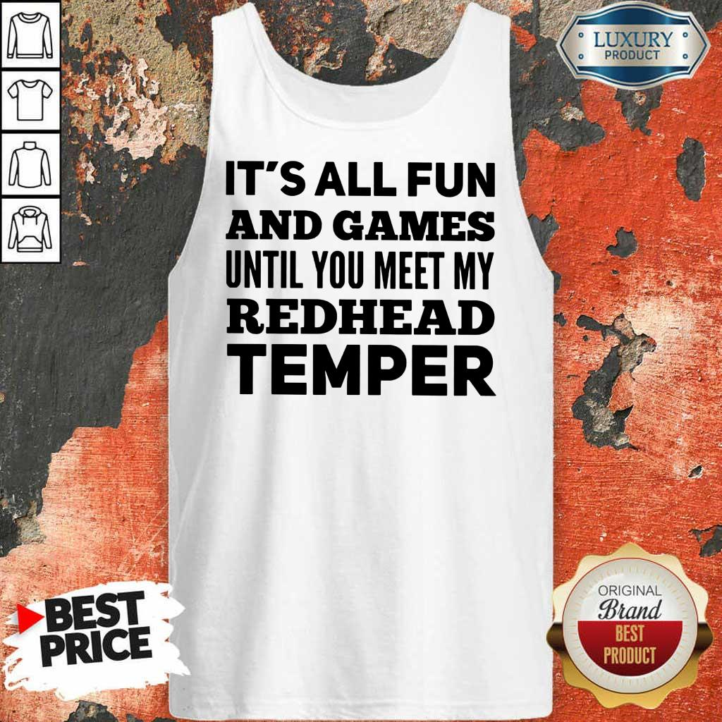 It's All Fun And Games Redhead Temper Tank Top