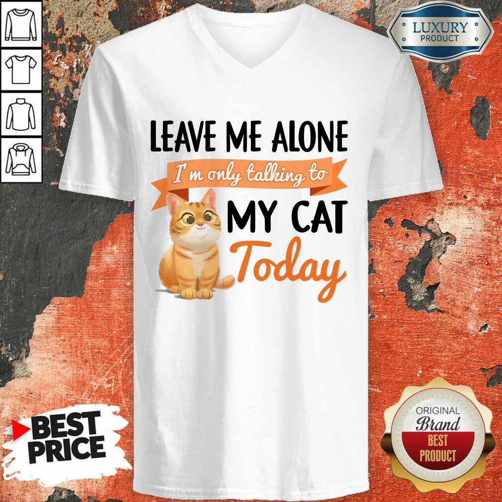 Leave Me Alone My Cat Today V-Neck