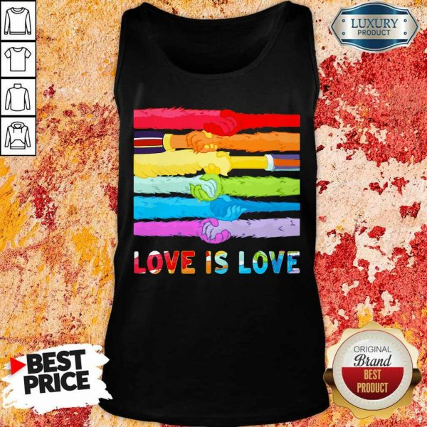 Love Is Love LGBT Hold Hand Tank Top