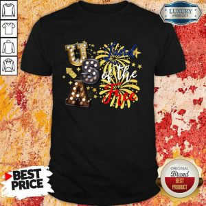 USA Land Of The Free Firework 4th Of July Shirt