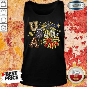 USA Land Of The Free Firework 4th Of July Tank Top