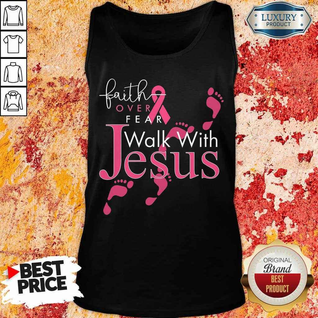 Walk With Jesus Breast Cancer Awareness Tank Top