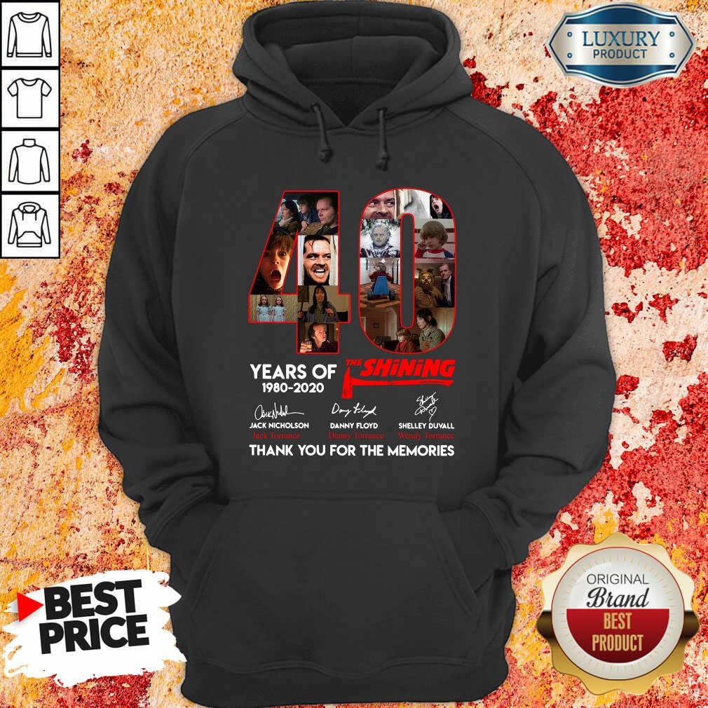 40 Years Of The Shining 1980 2020 Signatures Hoodie