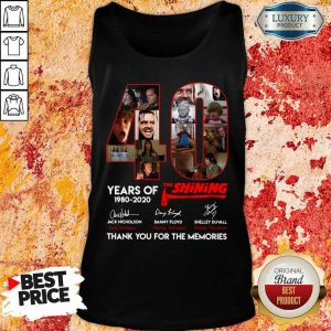 40 Years Of The Shining 1980 2020 Signatures Tank Top
