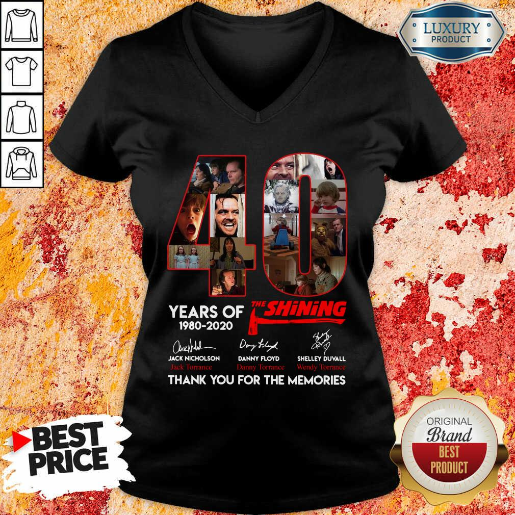 40 Years Of The Shining 1980 2020 Signatures V-neck