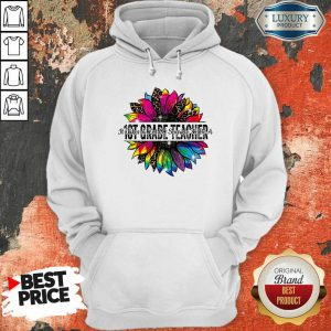 It Take A Lot Of Sparkle To Be A 1st Grade Teacher Colorful Sunflower Leopard Hoodie