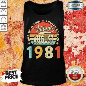 Vintage August 1981 One Of A Kind Limited Edition Tank Top