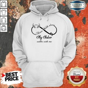 Wings And Paw Never Walk Along My Sister Walks With Me Hoodie
