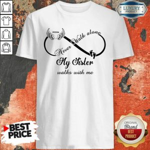 Wings And Paw Never Walk Along My Sister Walks With Me Shirt